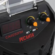 Сварочный инверторный аппарат работающий при пониженном напряжении Ресанта САИ-250ПН + сварочные краги и электроды в подарок!