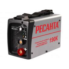 Сварочный инверторный аппарат серии Компакт Ресанта САИ-190К + сварочные краги и электроды в подарок!