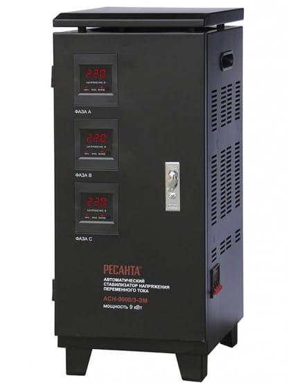 Трехфазный стабилизатор электромеханического типа Ресанта ACH-9000/3-ЭМ