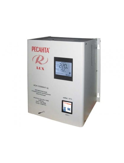 Однофазный цифровой настенный стабилизатор напряжения ACH-12000Н/1-Ц