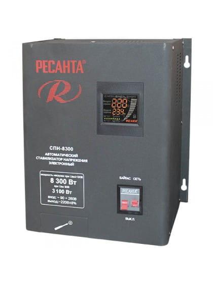 Однофазный цифровой стабилизатор пониженного напряжения Ресанта СПН-8300