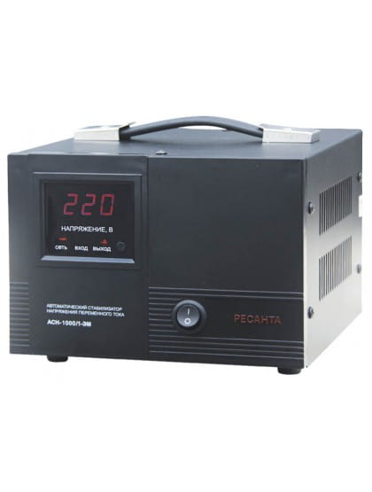 Однофазный стабилизатор напряжения электромеханического типа ACH-1000/1-ЭМ