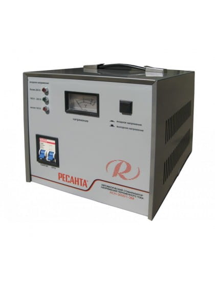 Однофазный стабилизатор напряжения электромеханического типа ACH-3000/1-ЭМ