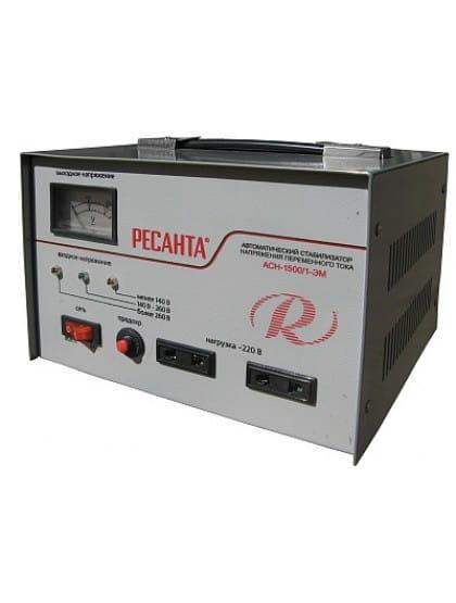 Однофазный стабилизатор напряжения электромеханического типа ACH-1500/1-ЭМ