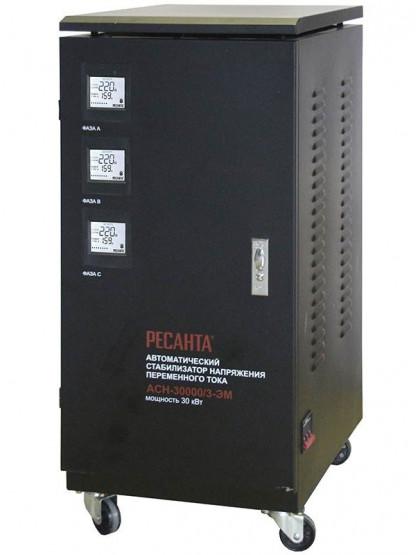 Трехфазный стабилизатор электромеханического типа Ресанта ACH-30000/3-ЭМ