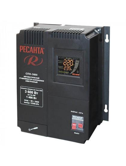 Однофазный цифровой стабилизатор пониженного напряжения Ресанта СПН-3600