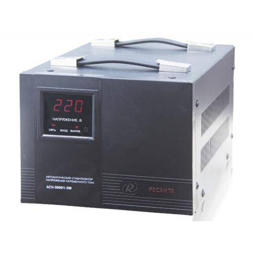 Однофазный стабилизатор напряжения электромеханического типа Ресанта ACH-3000/1-ЭМ 63/1/5 - Однофазные стабилизаторы электромеханического типа у официального дилера РЕСАНТА