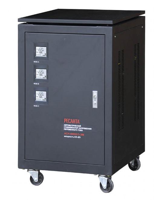 Трехфазный стабилизатор электромеханического типа ACH-60000/3-ЭМ