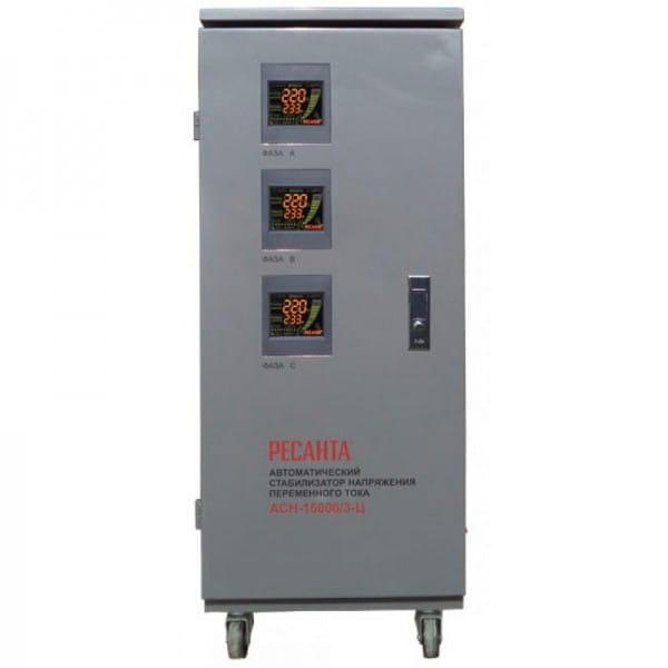 Трехфазные стабилизаторы напряжения электронного типа