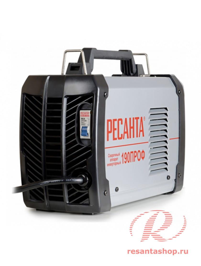 Сварочный инверторный аппарат Ресанта САИ-190ПРОФ + сварочные краги и электроды в подарок!