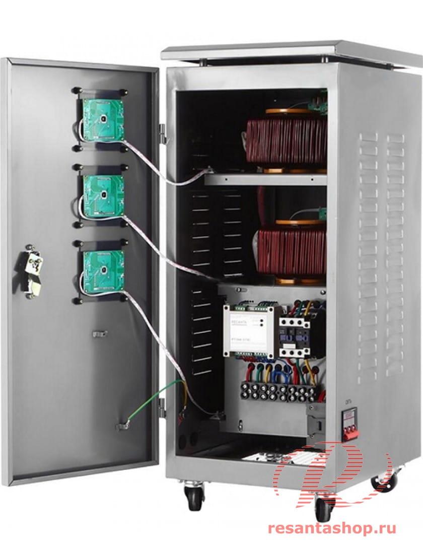 Трехфазный стабилизатор напряжения электронного типа Ресанта АСН-15000/3-Ц