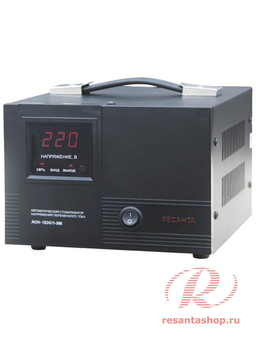 Однофазный стабилизатор напряжения электромеханического типа Ресанта РЕСАНТА ACH-1500/1-ЭМ