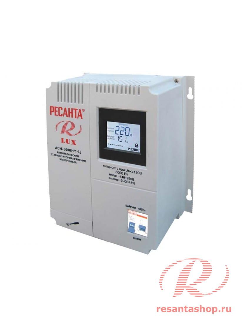 Однофазный цифровой настенный стабилизатор напряжения Ресанта ACH-3000Н/1-Ц