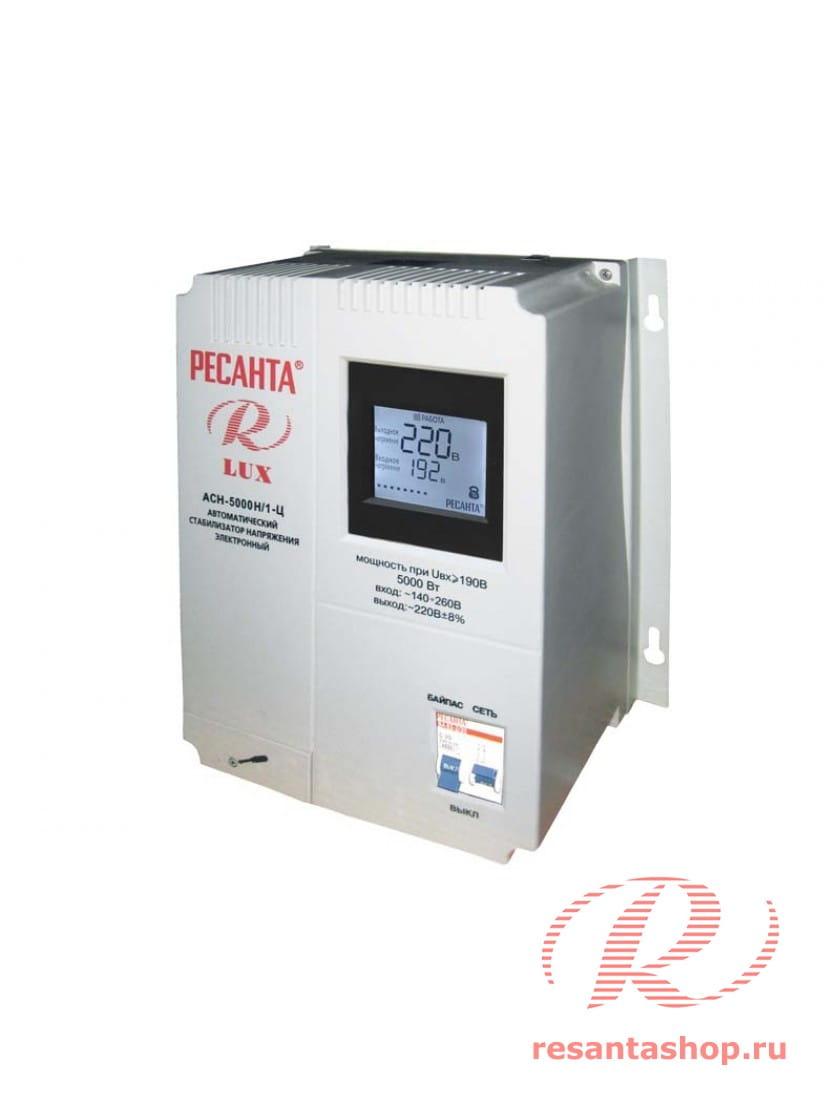 Однофазный цифровой настенный стабилизатор напряжения Ресанта РЕСАНТА ACH-5000Н/1-Ц