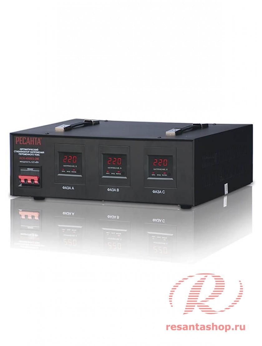 Трехфазный стабилизатор электромеханического типа Ресанта ACH-4500/3-ЭМ