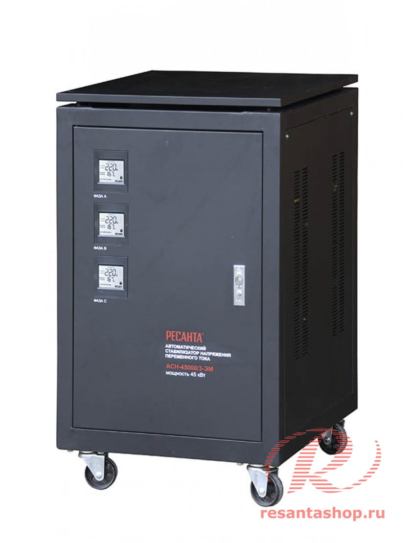 Трехфазный стабилизатор электромеханического типа Ресанта ACH-45000/3-ЭМ