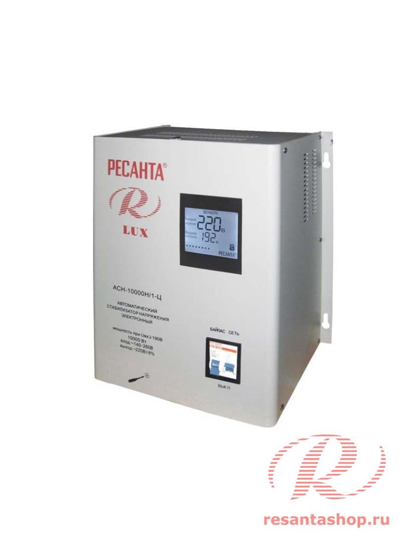 Однофазный цифровой настенный стабилизатор напряжения Ресанта РЕСАНТА ACH-10000Н/1-Ц