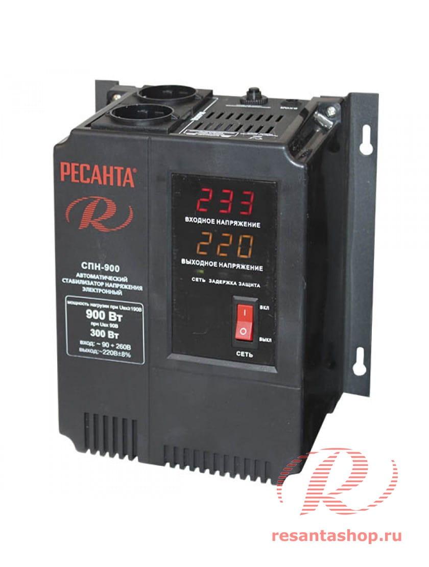 Однофазный цифровой стабилизатор пониженного напряжения Ресанта РЕСАНТА СПН-900