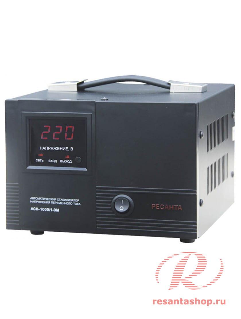 Однофазный стабилизатор напряжения электромеханического типа Ресанта РЕСАНТА ACH-1000/1-ЭМ