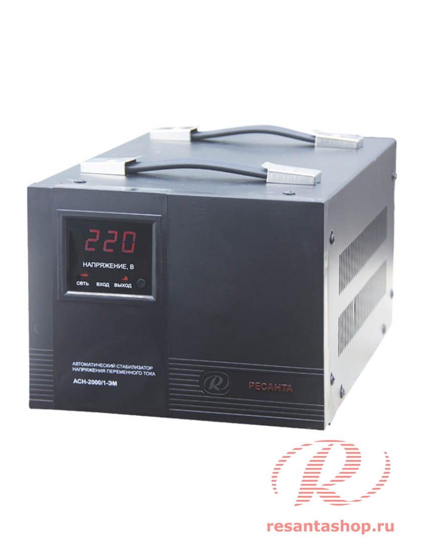 Однофазный стабилизатор напряжения электромеханического типа Ресанта РЕСАНТА ACH-2000/1-ЭМ