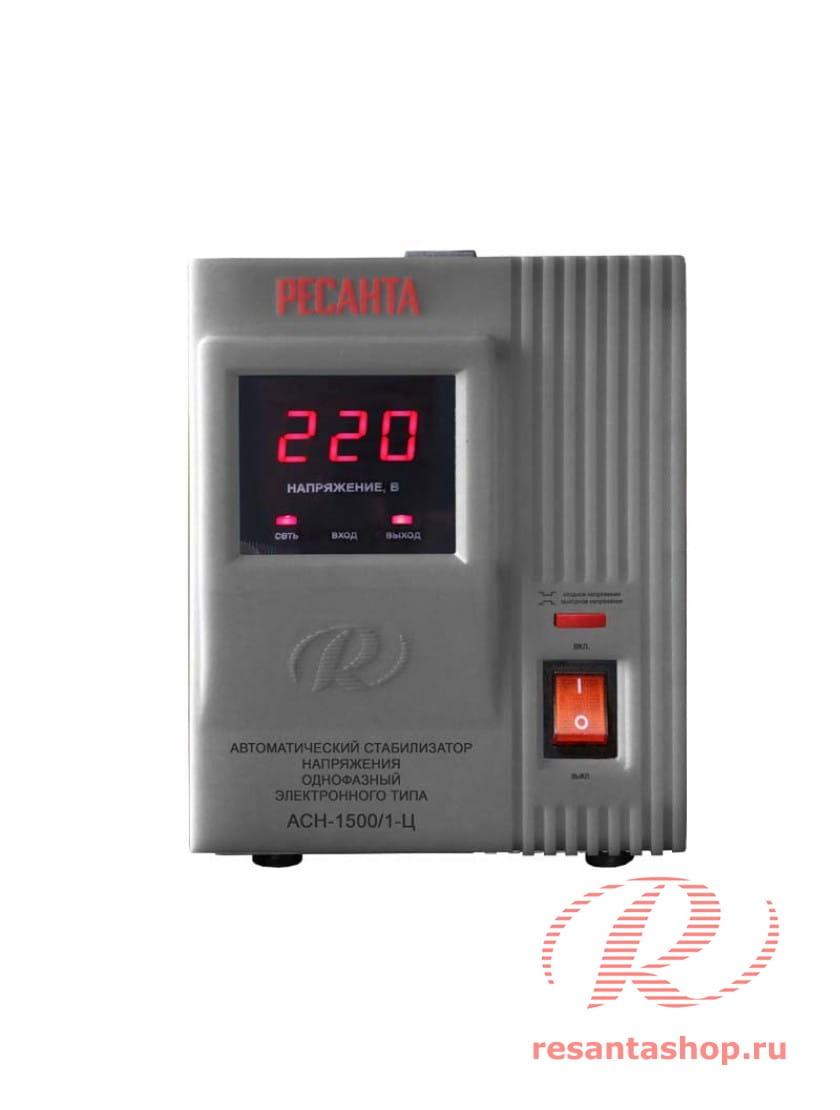 Однофазный стабилизатор напряжения электронного типа Ресанта РЕСАНТА АСН-1500/1-Ц