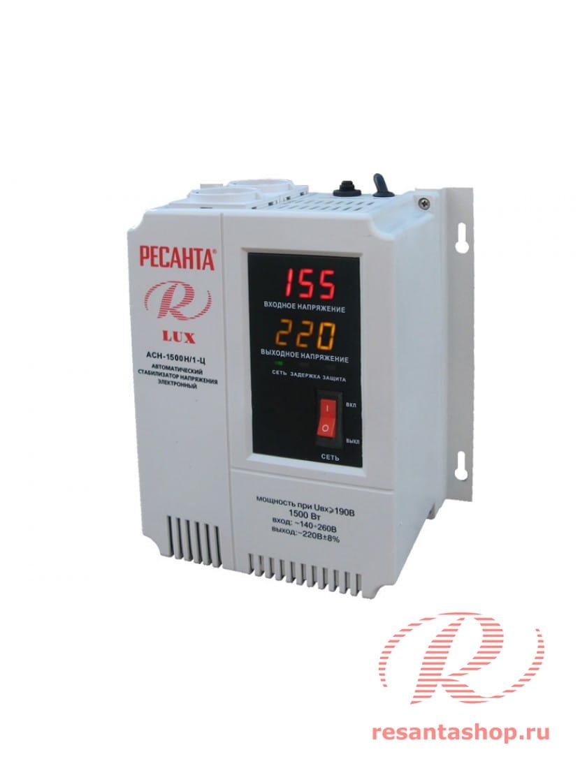 Однофазный цифровой настенный стабилизатор напряжения Ресанта ACH-1500Н/1-Ц
