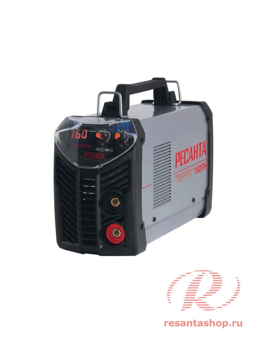 Сварочный инверторный аппарат работающий при пониженном напряжении Ресанта САИ-160ПН + сварочные краги и электроды в подарок!