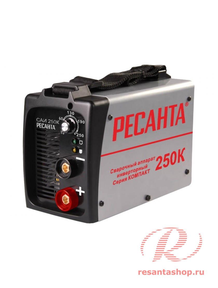 Сварочный инверторный аппарат серии Компакт Ресанта САИ-250К +  сварочные краги и электроды в подарок!