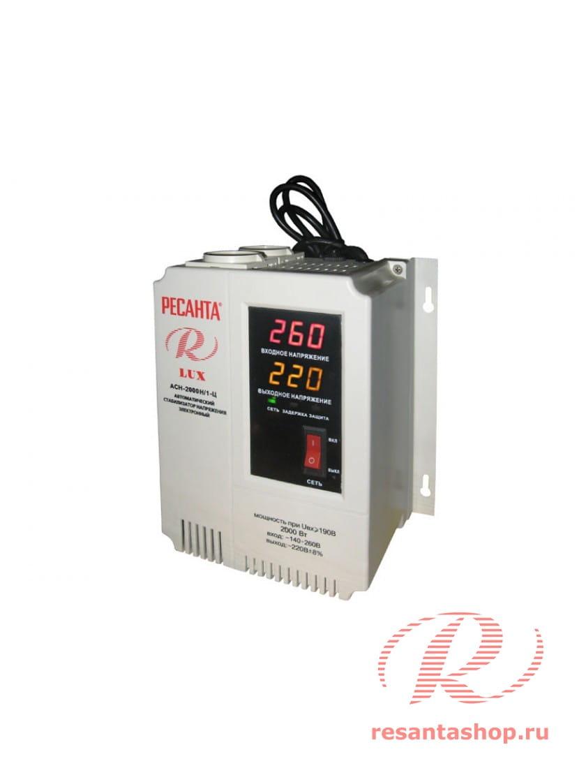 Однофазный цифровой настенный стабилизатор напряжения Ресанта РЕСАНТА ACH-2000Н/1-Ц