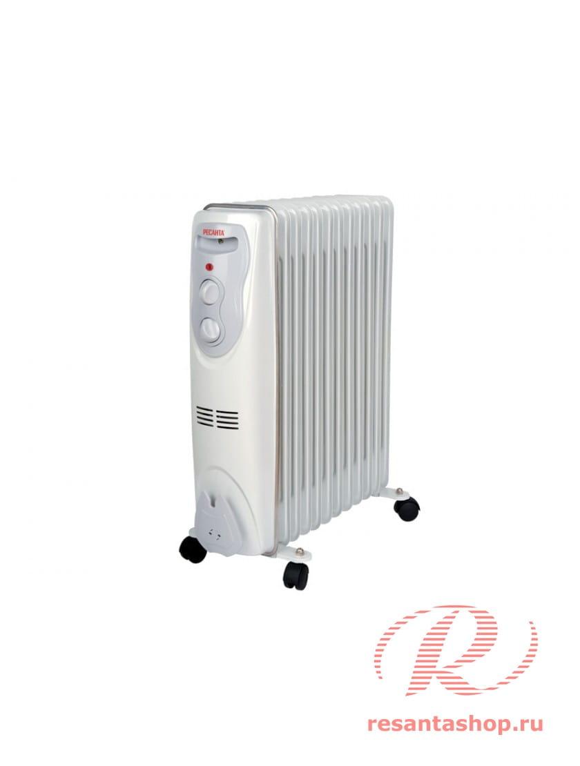 Масляный радиатор напольный Ресанта ОМ-12Н
