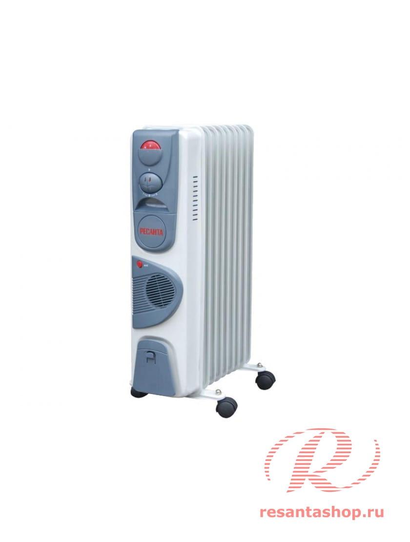 Масляный радиатор напольный Ресанта ОМ-9НВ