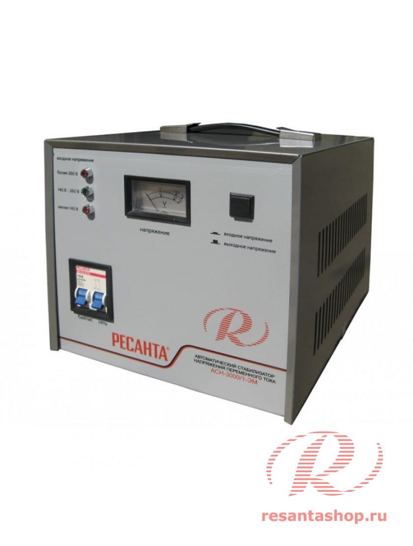 Однофазный стабилизатор напряжения электромеханического типа РЕСАНТА ACH-3000/1-ЭМ
